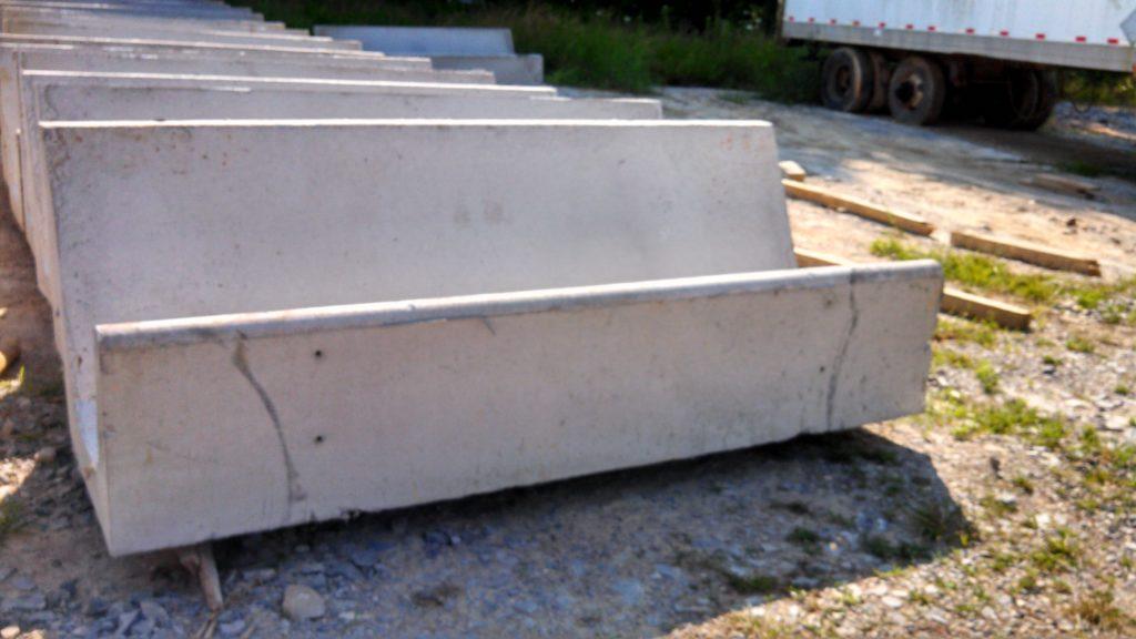West End Precast Concrete J-Bunk Trough Stock