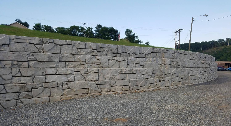 VertiBlock Concrete Retaining Wall