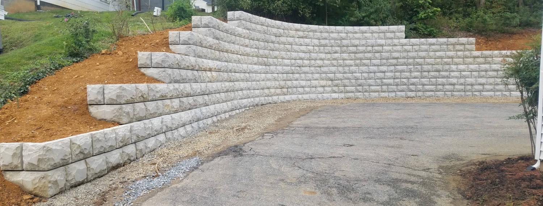 Driveway VertiBlock Retaining Wall
